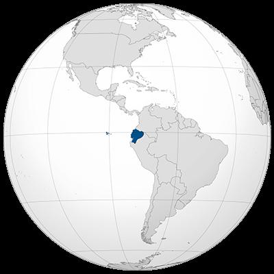 Ecuador Weltkarte